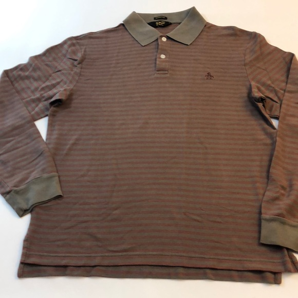 Penguin gentleman's fit Long Sleeve polo size med